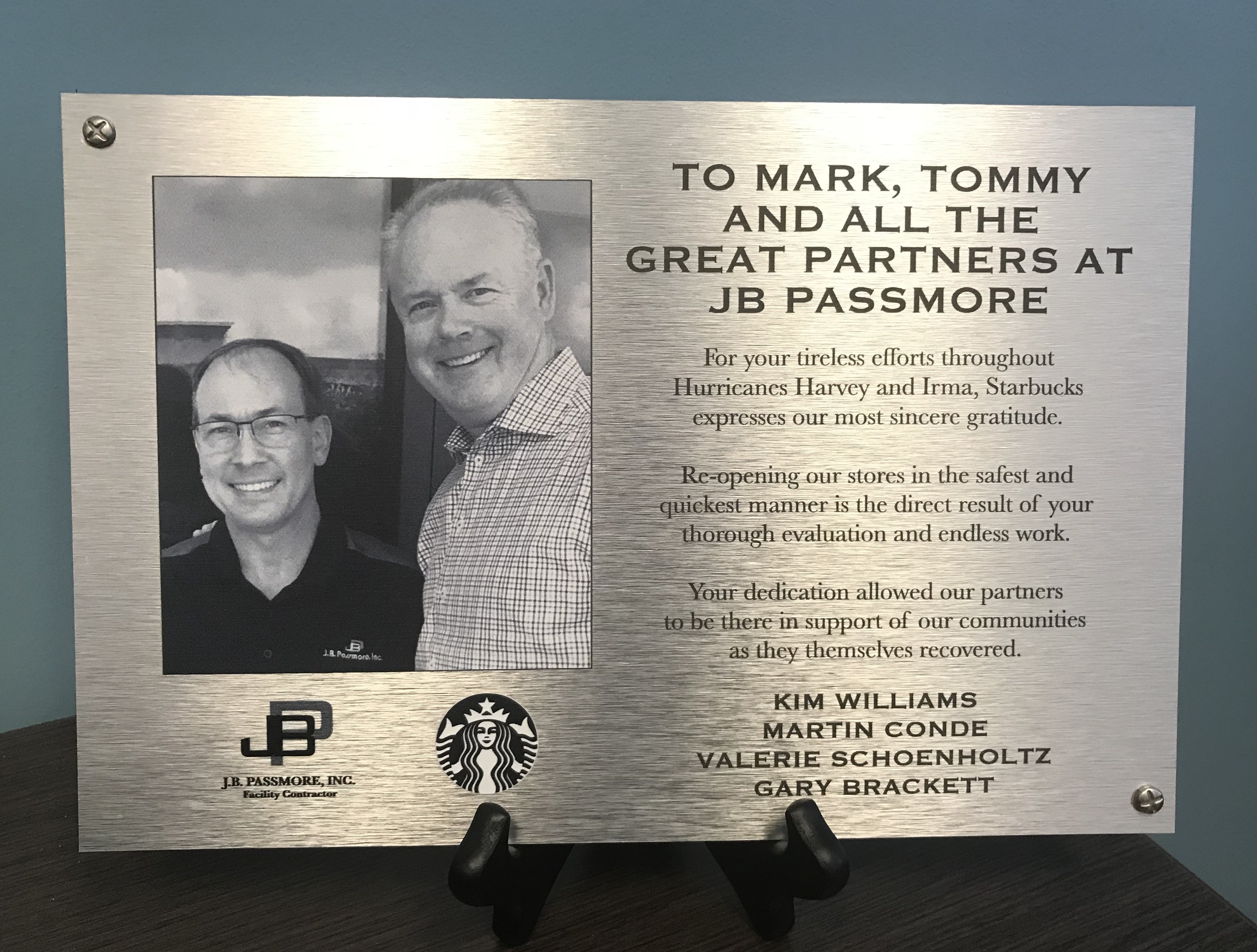 JB Passmore Inc. Honored by Multiple Houston Gulf Coast Area Companies